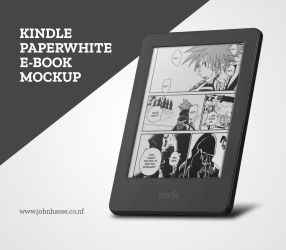 Kindle Paperwhite PSD Mockup 2 by Robot-H3ro
