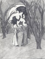 Sketch for 'Wolf Song' by unknown-artist23
