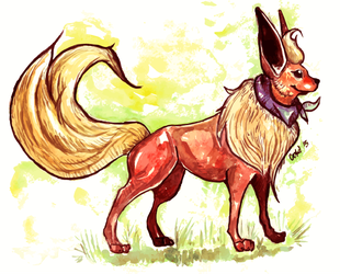 Erladino the Flareon by CokiTheNoctowl