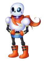Sans in Papyrus' Armor by The-real-Vega777