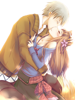 Lawerence And Holo PNG by KrystalsDarkKiss