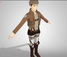 Jean Kirschtein - Attack on Titan - MMD Newcomer by narutoxbase