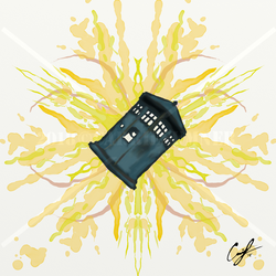 'Rorschach TARDIS' by Angelix88