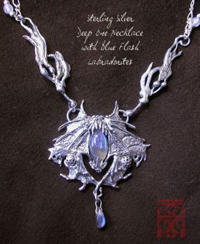 Deep One with labradorite by somk