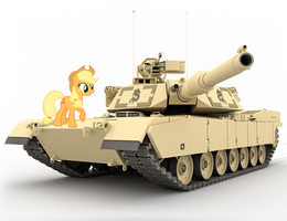 Applejack and Abrams by Rex42