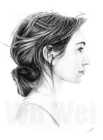 Eleanor Tomlinson portrait by whu-wei