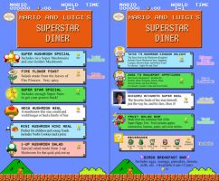 Superstar Diner menu by DoctorEvil06