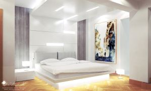 Modern apartment Master bedroom by kasrawy