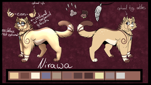 Nirawa [Fursona] Reference Sheet (01/2018) by Nirawa