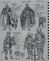 Armor Kit Sketches by Theophilia