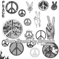 Peace Brushes by fartoolate