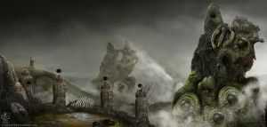 The Bog Witch Causeway by Vincent-Covielloart