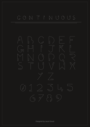 Uni: Continuous Typography Poster by DJLemmiex