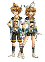 Kagamine Twins Append by Cleopatrawolf