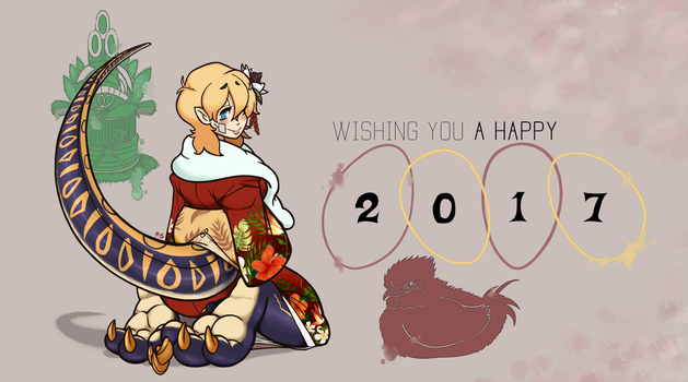 powder's 2017 new years card by powder-sugar