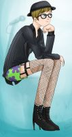 Fishnets and Pinstripes by Chocoreaper