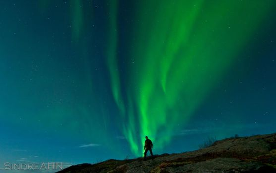 Me and The Northern Lights by SindreAHN