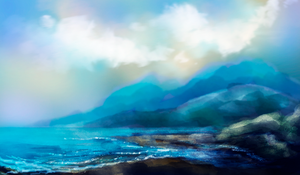 turquoise mountains by syntyni