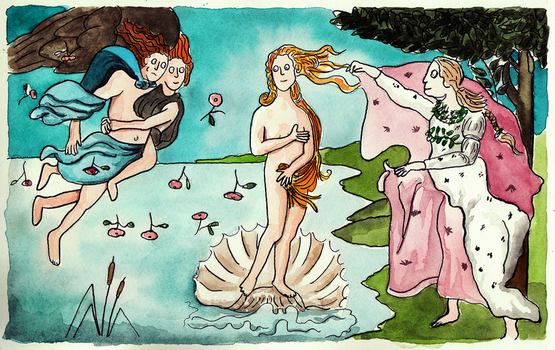 Shitty Birth of Venus by ShittyWatercolour