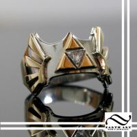 Crest of Hyrule Diamond Ring by mooredesign13
