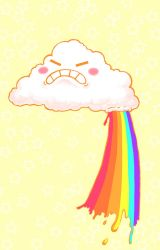 Happy cloud makes rainbows by toxicness
