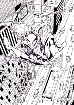 Spider-Man comic book page 36 by JulianPetrov