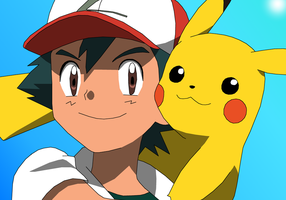 Ash and Pikachu: 20th Anniversary by PokemonXYLover1998