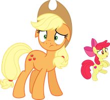 [RQ] Applejack and Apple Bloom by DeyrasD