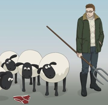 Shaun and the Sheep by doubleleaf