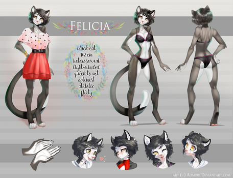 Felicia reference sheet by AonikaArt