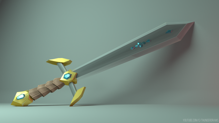 My First 3D Model - Sword Concept by NaiBuff