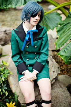 Ciel Phantomhive Cosplay: His Butler on Vacation by HatterSisters