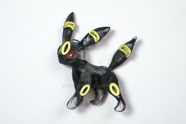 Pokemon Paper Quilling Art 167 Umbreon by wholedwarf