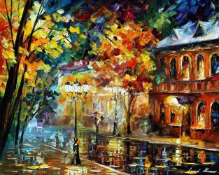 Old Moscow by Leonid Afremov by Leonidafremov