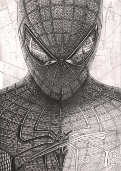 'Spiderman' WIP 60% complete by Pen-Tacular-Artist