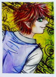 ACEO-Devil smile by atorife