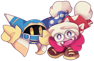 KSS: Magolor and Marx by SattoBless