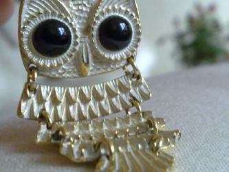 Owl necklace by chloexlolx
