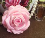 Pink Satin Rose by SarahLaure