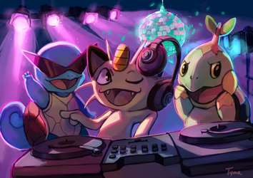 DJ Meowth by Tymkiev