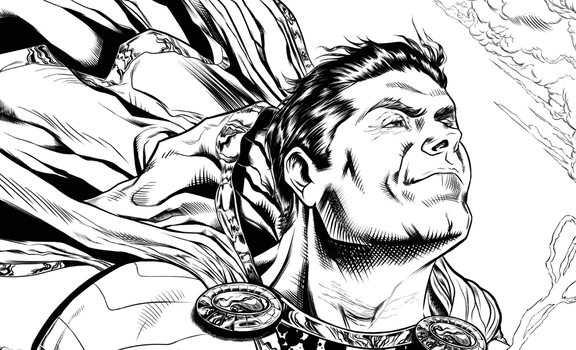 WIP SHAZAM INKING PROCESS by barfast