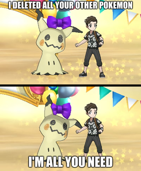 Overly Attached Mimikyu by Space-between-spaces