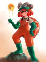 salmon run by catseatingwatermelon