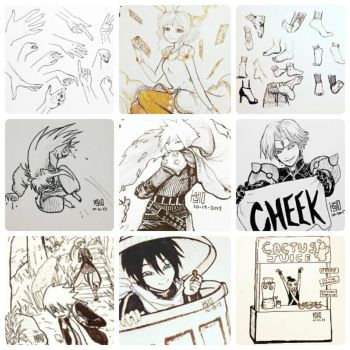 INKTOBER COMPILATION 2017 4/5 by peore