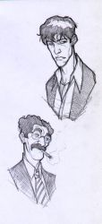Dylan and Groucho -sketch'08 by DenisM79
