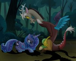 Woona and Discord first Encounter by ElementalOkami