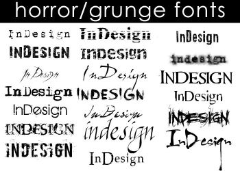 Horror-Grunge Fonts by Moonangel517