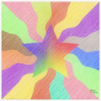 Star on wavy colors by Art-Diversity