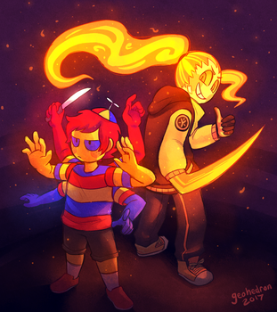 Kid And Yal by Slitherbot