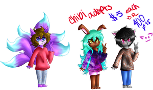 Chibi Adopts- $5 or 400 Pts Each! OPEN by shotabunnyfairy